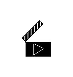 play audio clapper movie icon signs and symbols vector image