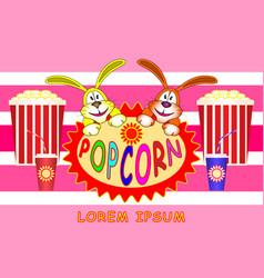 popcorn banner poster vector image