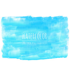real blue watercolor stain background vector image
