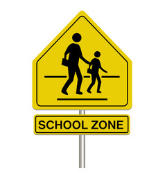 school zone sign on a white background vector image