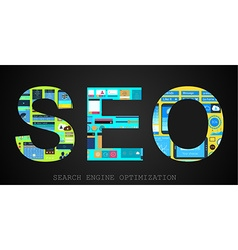 SEO Search engine optimization concept vector
