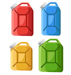 Set fuel canister icon fuel container jerrycan vector