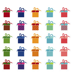 set of bright gifts vector image
