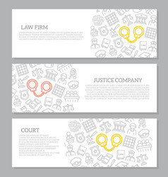 Set of crime law police and justice vector