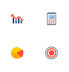Set of finance icons flat style symbols with pie vector