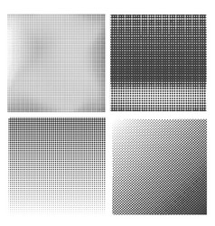 Set of halftone patterns dirty damaged spotted vector