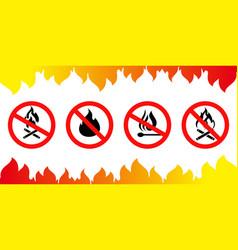 Set sign no flame vector