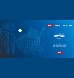 Site template outline sketch an town vector