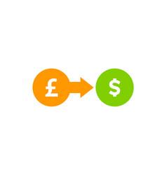 stock market business logo icon design vector image