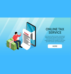 Tax service online banner vector