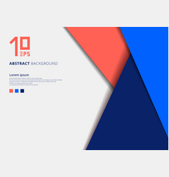 Template geometric colorful overlap layer on blue vector