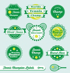 Tennis Labels vector image