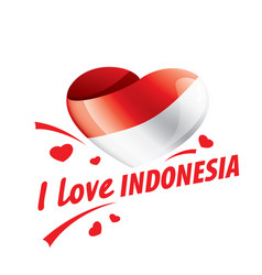 The national flag indonesia and the vector