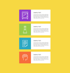 varied icons set isolated on yellow colorful card vector image