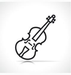 Violin line icon design vector