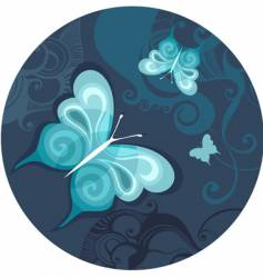 butterfly night vector image vector image