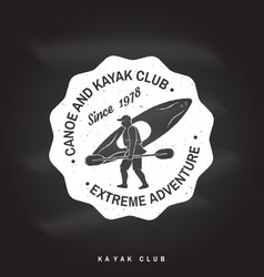 canoe and kayak club badge vector image vector image