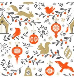 Christmas retro pattern vector image vector image
