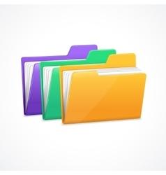 File folders set vector