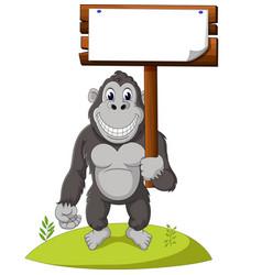 funny gorilla cartoon vector image vector image