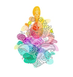 Paisley Ethnic ornament isolated vector image vector image