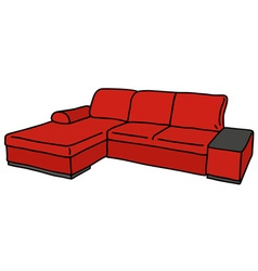 Red couch vector image vector image