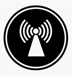 caution colorless warning logo symbol isolated on vector image vector image