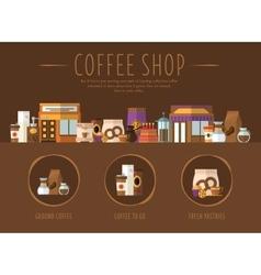Coffee Shop Flat vector image vector image