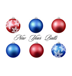 colorful christmas balls set of isolated vector image