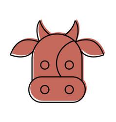 Cow head isolated icon vector