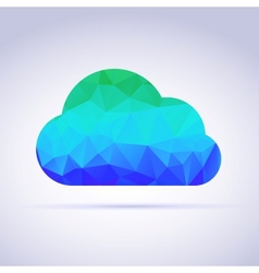 Creative icon clouds triangles vector image vector image