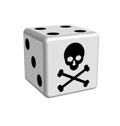 dice game danger in 3d vector image vector image