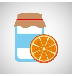 jar cute blue with jam orange jam graphic vector image