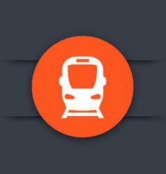 subway icon train sign vector image vector image