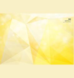 abstract geometric yellow background bokeh vector image vector image