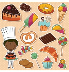 African-American confectioner vector image vector image