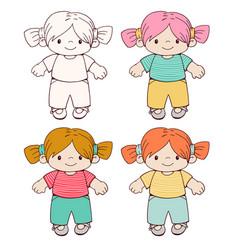 dolls vector image vector image