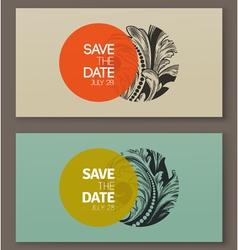 Elegant baroque badges Design elements vector image vector image