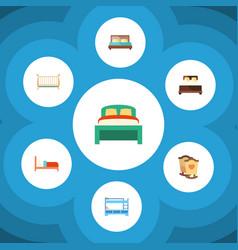 Flat mattress set of cot mattress bunk bed and vector