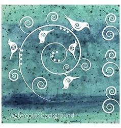 sea birds vector image