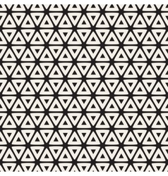 Seamless black and white rounded triangle vector
