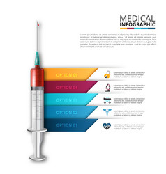 syringe infographic vector image
