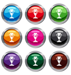 winning cup set 9 collection vector image vector image