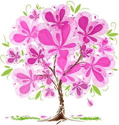 Blossom tree design vector image vector image