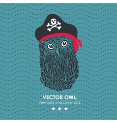 Captain pirate owl vector image