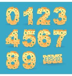 Cheese alphabet set vector image vector image