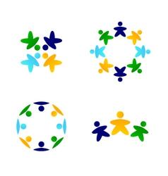 multicultural teams vector image vector image