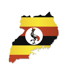 uganda africa map flag vector image vector image