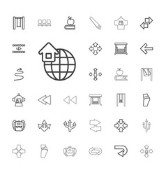 33 back icons vector