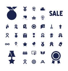 37 ribbon icons vector